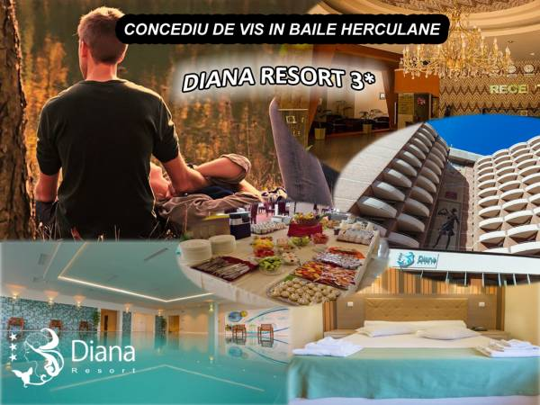 Poza Concediu in Baile Herculane! Diana Resort 3* te asteapta cu pachete de 1-7 nopti cu Mic dejun si acces la Diviana Spa! 19 Septembrie -20 Decembrie 2019 1