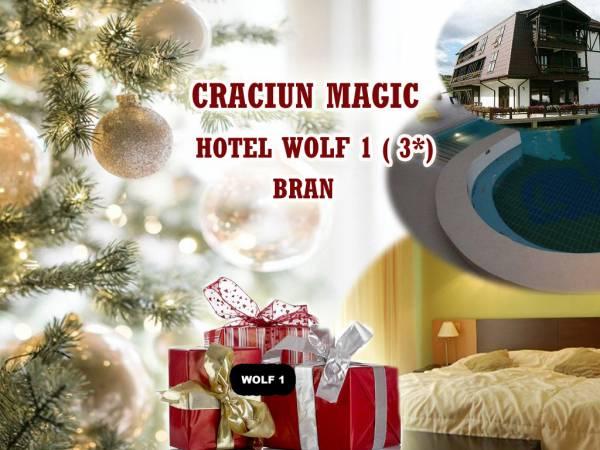Poza  Craciun magic ! Hotel Wolf 1 Bran, 3* ! 5 nopti/ 6 zile cu Demipensiune ( Mic dejun+ Cina ) , Taierea si pomana porcului cu toate obiceiurile de Craciun,  Pranz festiv de Craciun si SPA!  21-27