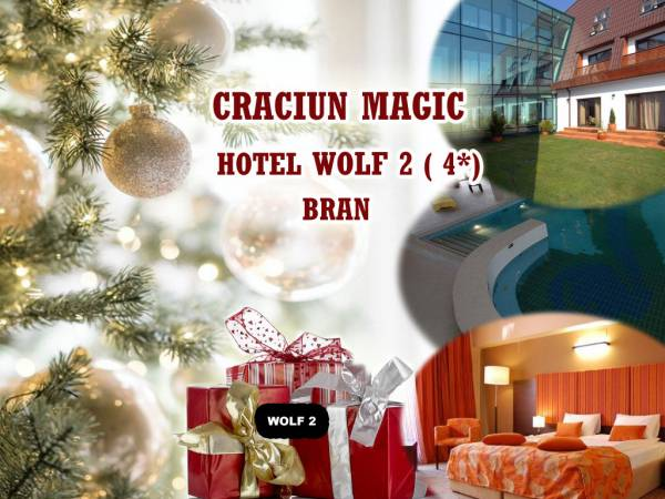 Poza  Craciun magic ! Hotel Wolf 2 Bran, 4* ! 5 nopti/ 6 zile cu Demipensiune ( Mic dejun+ Cina ) , Taierea si pomana porcului cu toate obiceiurile de Craciun,  Pranz festiv de Craciun si SPA!  21-27