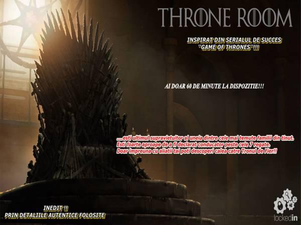 Poza Daca esti pasionat de serialul Game of Thrones, acest joc este perfect pentru tine! Escape Lokedin iti propune evadarea din Throne Room! Joc pentru 2-6 persoane! 1
