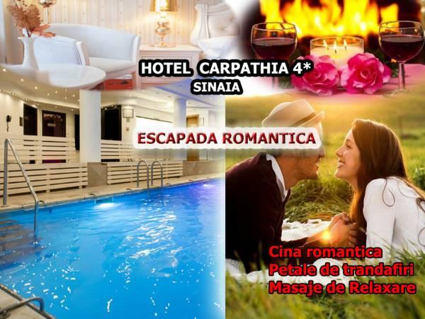 Poza Escapada Romantica la Carpathia Sinaia! Cazare 2 nopti cu mic dejun, 1 Cina Romantica, petale de trandafiri, masaje faciale si de relaxare si acces la SPA!  1