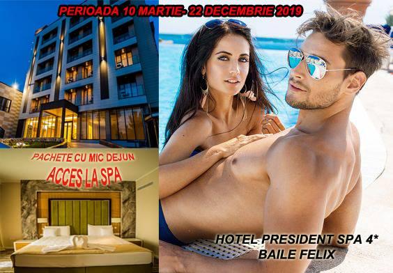 Poza Hotel President SPA 4* din Baile Felix! 1-7 Nopti pentru 2 adulti in Cam dubla cu Mic dejun inclus, acces la Spa si Aqua Park Gratuit! Pachete valabile pana pe 22 Dec 2019 1