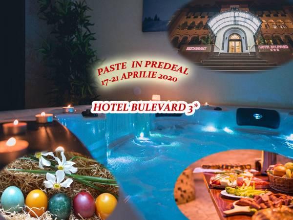 Poza Paste in Predeal la Hotel Bulevard 3* ! 3, 4 nopti  pentru 2 adulti cu Demipensiune, Masa festiva de Paste, Petrecere cu Muzica Live si Spa! 17-21 APRILIE 2020 1