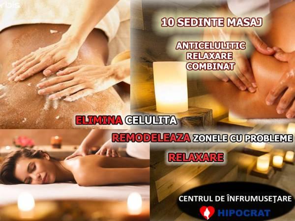 Poza Relaxare Absoluta prin 10 x sedinte masaj relaxare/anticelulitic sau 10 sedinte Masaj Combinat, zona Baneasa, Clinica de Infrumusetare HIPOCRAT! 1