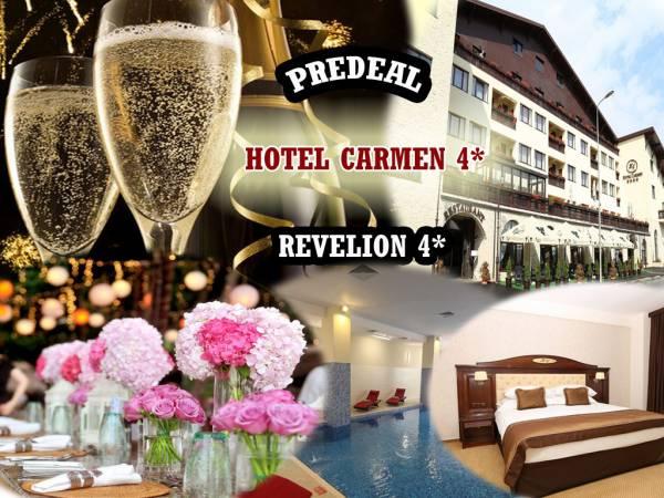 Poza Revelion la Hotel Carmen 4*, Predeal! 3 nopti/4 zile in Cam dubla/Apartament, cu mic dejun zilnic, Cina festiva cu petrecere si muzica LIve de REVELION (31 Dec.), Brunch si Cina bufet in 1 Ian si