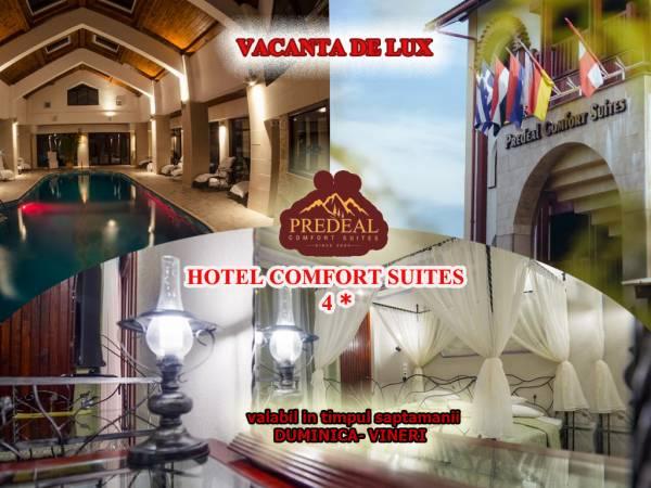 Poza Vacanta de 4* in Predeal la Hotel Comfort Suites! 1, 2 3, 5 nopti pt. 2 adulti de DUMINICA- VINERI ( in timpul saptamanii) cu mic dejun, piscina, sauna, jacuzzi! Perioada: 01 Martie- 29 Noiembrie