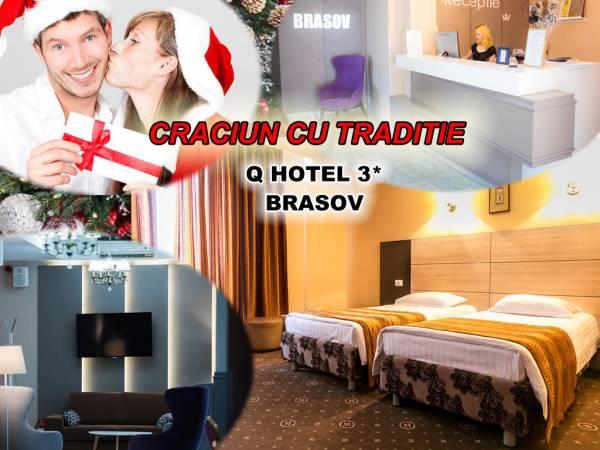 Poza Vrei un Craciun plin de traditie? Hotel Q 3* Brasov te asteapta cu 3 sau 4 nopti pt 2 adulti, Mic Dejun, Cina - 23 Dec, Pomana porcului- 24 Dec, Pranz festiv - 25 Dec, Cina - 26 Dec.! 23-27 decem